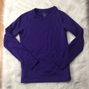 NIKE NWOT therma-fit crew neck sweater purple sz S